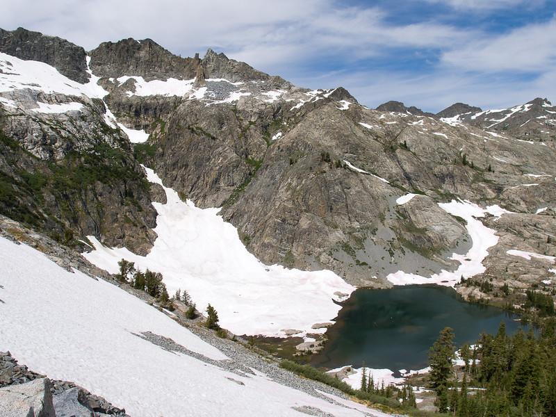 Anona Lake and Iron Mountain from the southwest ridge