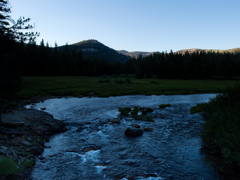 San Joaquin river before sunset