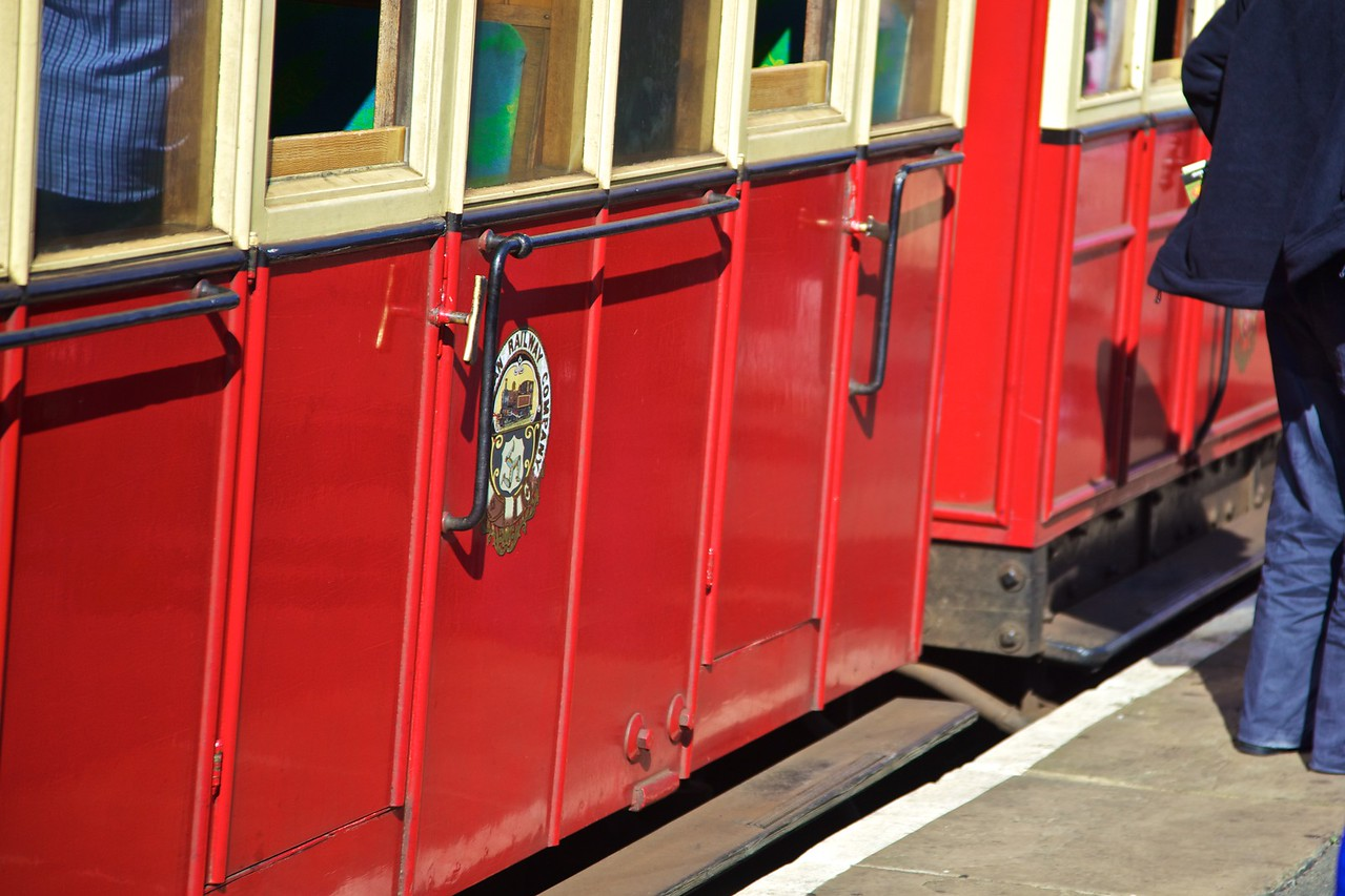A carriage of the Isle of Man steam railway, which runs between Port Erin and Dougas.