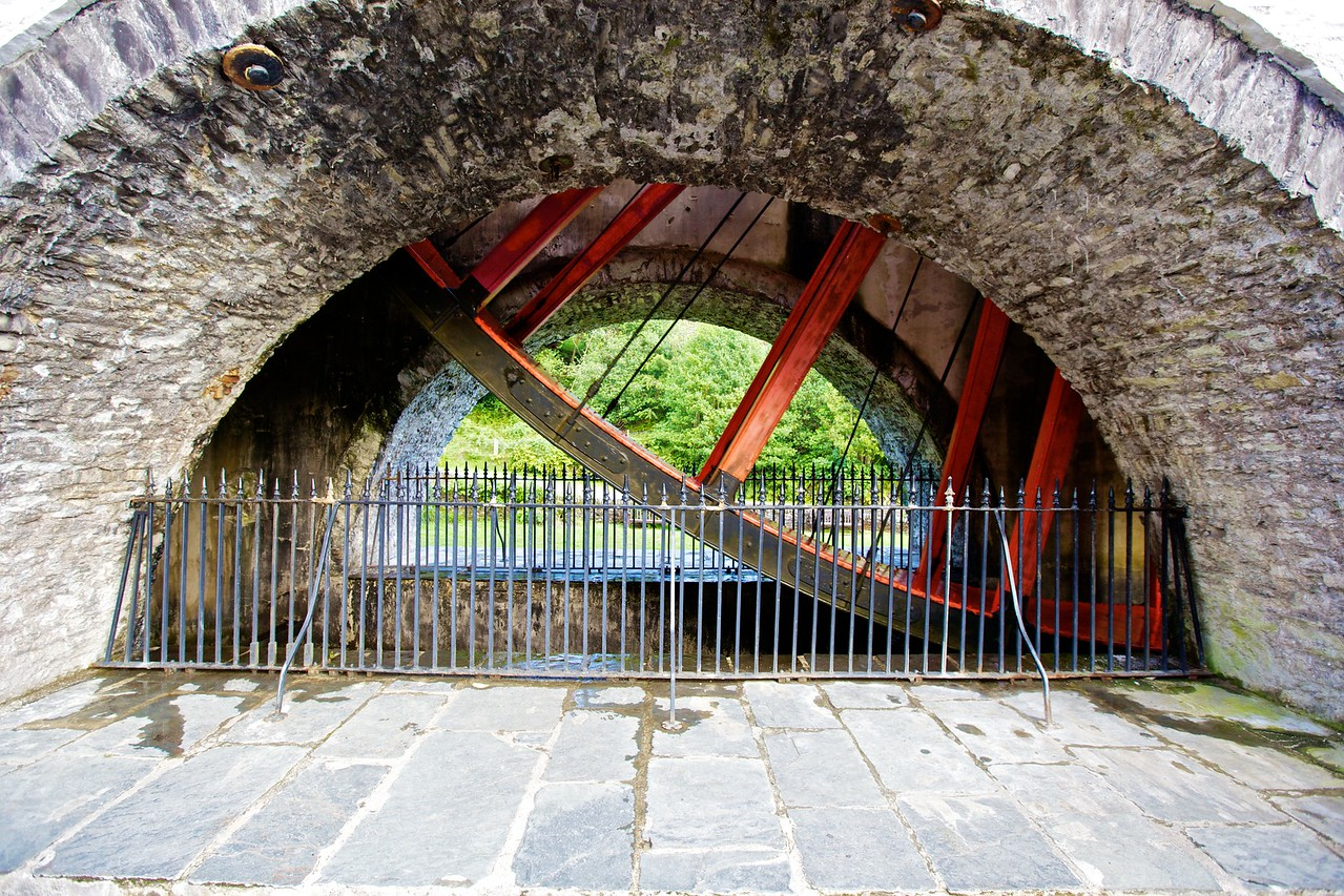 The underside of Lady Isabella, the water-wheel at Laxey (the largest water-wheel in the world).