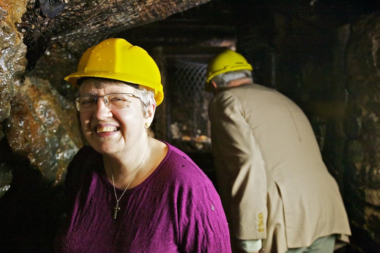 Mummy down the mine.