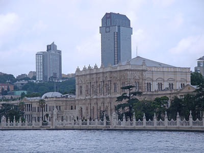 Several palaces, like Dolmabache here, were situated along the shores of the Bosphorus.