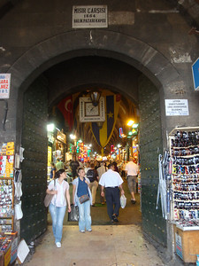 Next to the Yeni Mosque is the Spice Bazaar, which has been operational for centuries. When not open, heavy gates bar the entrance.
