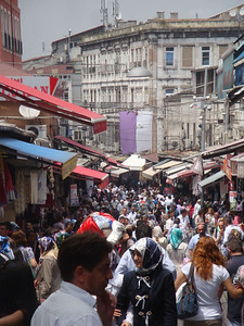 Next, I wound my way uphill towards the Grand Bazaar - apparently the world's largest!