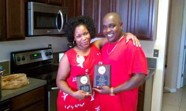 J'Ville V.Prez. & Wife Receives Award Support and Dedication