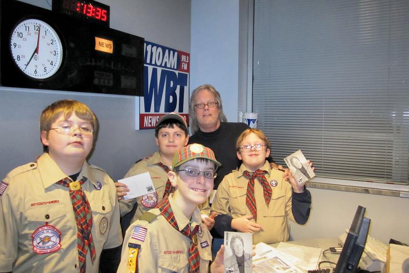 Webelos II's trip to WBT Radio, meeting John Hancock.