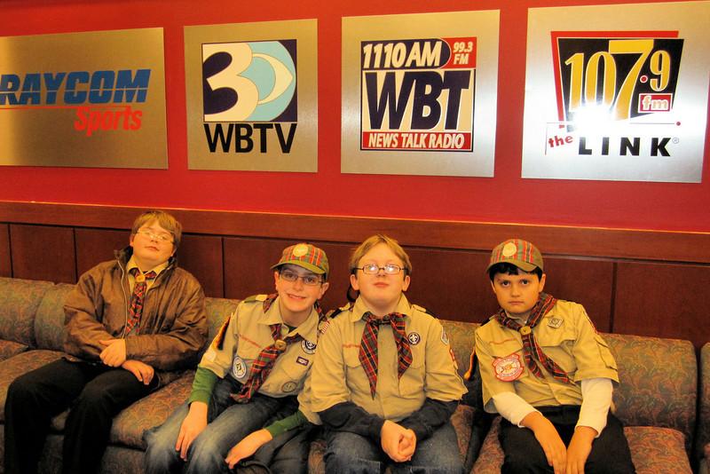 Webelos II's trip to WBT Radio