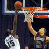 High scorer: Carl Richard(15) scores on a lay up before Missouri State defender Kyle Weems can reach him.