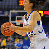 Timely points: Anna Munn looks to shoot in first half action against Drake.