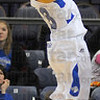 Long range: Deja Mattox shoots from outside early in the seconf half of the Sycamore's game against Drake.