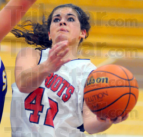 2nd year: Nicole Anderson looks to score from the paint against Sullivan last December.