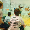 In Awe: Eleven-year-old Sean Henry (right) sits with seven-year-old Josh Ortiz (middle) and twelve-year-old Ray Hicks (left) as the watch Kane Waselenchuk and Rocky Carson compete for the championship in the 2011 Lawler Sports IRT Pro Am tournament. Henry and Hicks also competed in the tournament.