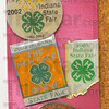 Collection of memories: Some of Lana Frazier's pins from her trips to the Indiana Stae Fair as a 4-H representative.