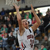 Runner: North's #20 Logan Shipley throws up a runner and scores during second quarter action against West Vigo Friday night.