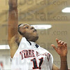 Score: North's #11, Tommie Bolden score two of several points for the game against West Vigo Friday night.