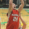 Score: Marshall's #24,Jared Boyll scores against West Vigo Friday night.