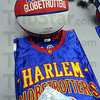 Goodies: Several families received free tickets and memorabilia for the Globetrotters game Tuesday night.
