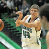 Pass: West Vigo's #43 Ryan Crowther fires the ball to a cutting teammate during game action against Riverton Parke Friday night.