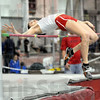 First: Rose-Hulman's Elizabeth Evans clears the bar to take first place in the Rose-Hulman dual meet Saturday afternoon.