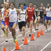 Leader: Indiana State freshman Drew Gambill leads the field during the mile run Saturday afternoon. Indiana State's Jeremiah Vaughan eventually won the event. Gambill finished fourth overall.