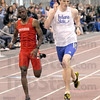 Photo finish: Indiana State's Max Tuttle beats Illinois State's Fabian norgrove to the finish in the first heat of the 400m run Saturday at Rose-Hulman.