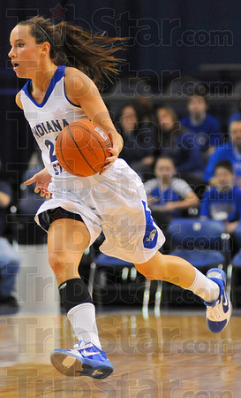 Running: Taylor Whitley brings the ball up the floor agaisnt Bradley Saturday.