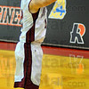 Tribune-Star/Jim Avelis<br /> Outside threat: Rose-Hulman guard Blake Knotts shoots for three against Transylvania.
