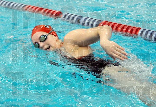 Power: Terre Haute North swimmer Casey Powers does her Wednesday workout as she prepares for the North/South swim meet.