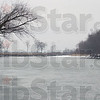 Different look: The Wabash River as seen from the Michael Hunter Kearns public access site near Tecumseh. Winter's starkness gives a different look to the waterway.