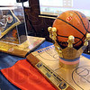 Trophy time: Trophies for the North/South boys and girls basketball game on display at the annual Champions Luncheon Wednesday afternoon.