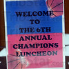 Luncheon: Detail of Luncheon welcoming sign.