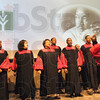 Sing it: The Bethlehem Temple Church Choir performs at Ivy Tech Monday during the MLK event.