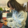 Connected: Rose-hulman civil Engineeering student Yijia Lin works on her iPad in the student union building Monday afternoon.