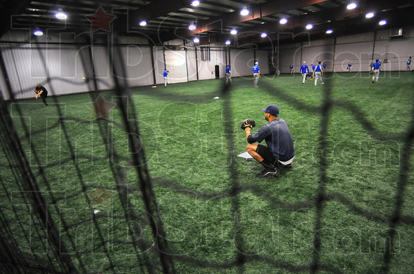 Room to roam: The new practice facility for the Indiana State University baseball and softball teams ranks among the best in the confrence.