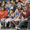 Trotter fans: Fans watch the Harlem Globetrotters during their Tuesday night show at Hulman Center.
