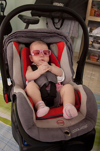 Just hanging, in my new car seat.  Maybe one day we will actually go somewhere!