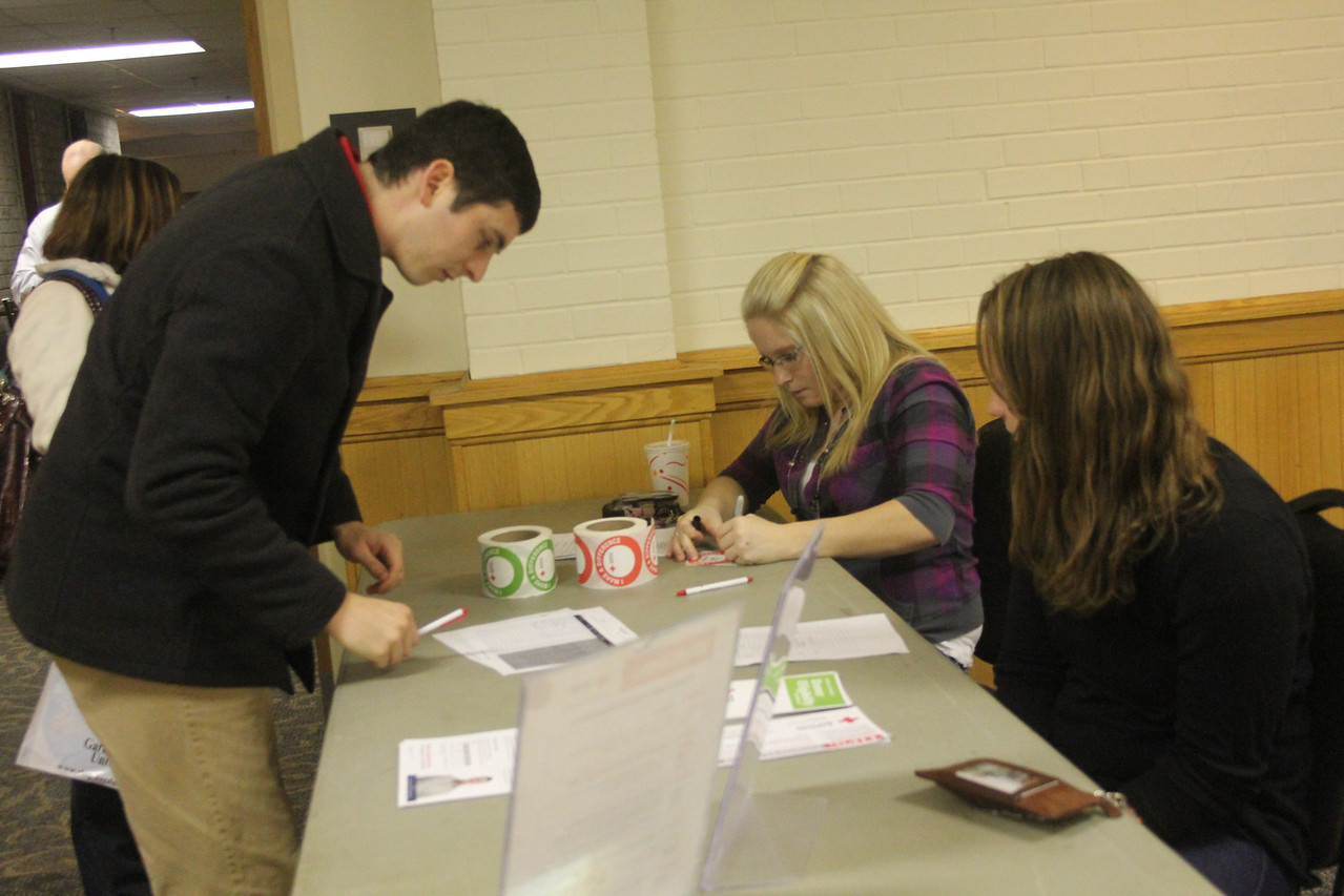 Students and faculty participate in the blood drive on Tuesday, January 18th 2011.