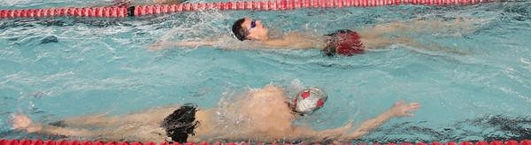 The Men's Swim team defeated Davidson on Saturday January 29th, 2011