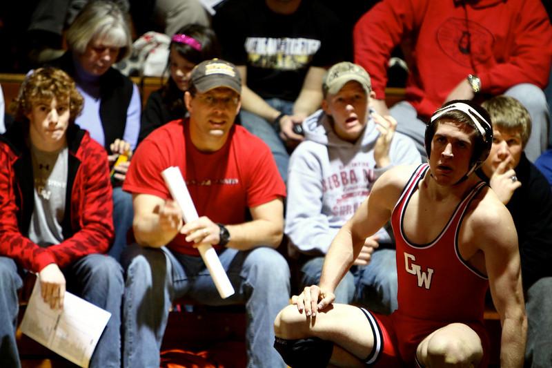 Wrestling match versus Duke; January 21, 2011.