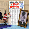 Tribune-Star/Jim Avelis<br /> Remember: Jena Schoffstall organized the Thursday blood drive at Terre Haute Regional Hospital in memory of her son Aaron.