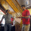"Tribune-Star/Jim Avelis<br /> Back in town: William Tanoos and Paul Fleschner talk about the filming of their upcoming movie ""The Drunk"". There will be many scenes from Terre Haute in the film as well as a need for local extras in some of the scenes."