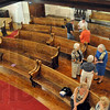 Restoration: A restoration project of the pews in the Allen Chapel is underway with the help of a National DAR grant.