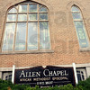 Chapel: Exterior of the Allen Chapel.