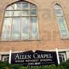 Chapel: Exterior of the Allen Chapel.