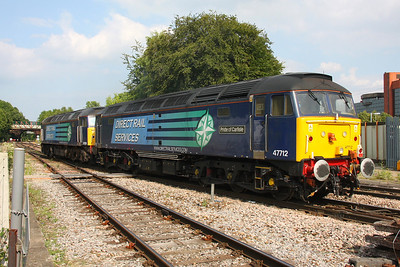 47712 Basingstoke 28/07/11 on the rear of 0Z81 Eastleigh to Crewe Gresty Bridge with 57009