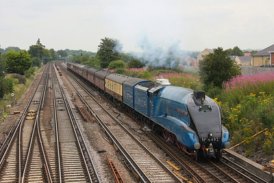 4492 (60019) Worting Jct 26/07/11 1Z92 Victoria to Weymouth 'The Dorset Coast Express' with 37516 on the rear