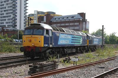 57009 Basingstoke 28/07/11 0Z81 Eastleigh to Crewe Gresty Bridge with 47712