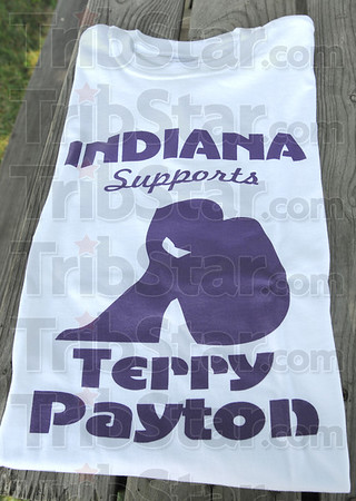 Tribune-Star/Rachel Keyes<br /> Indiana supports: Indiana Supports Terry Payton t-shirts will be sold at the benefit July 16 at Twin Lakes Park in Paris funds will go to benefit Terry Payton.