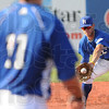 Tribune-Star/Rachel Keyes<br /> In the glove: The Rex's Jacob Hayes makes a stop Sunday.