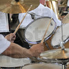 Tribune-Star/Rachel Keyes<br /> Keeping the beat: The Greater Greenwood Community Band drummer keeps the beat to Mancini! a selection by Arr. Alfred Reed.